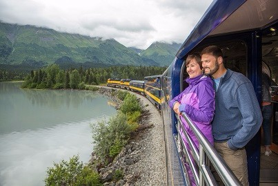 AK - Alaska railroad - GoldStar Service -Viewing Platform 2