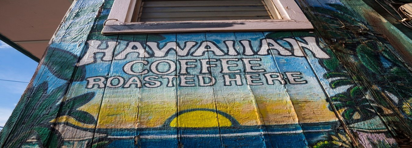 HI, Maui Coffee Roaster sign