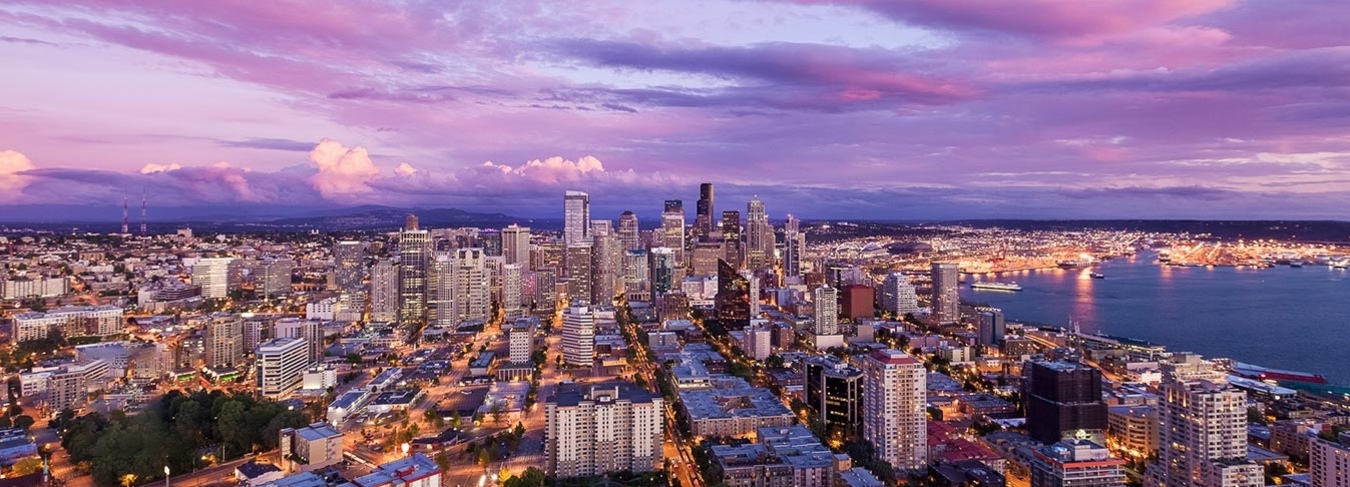 WA, Seattle Cityscape